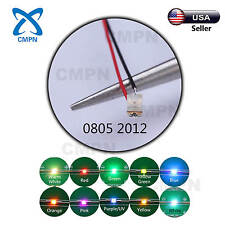 T0805 2012 SMD Micro LED Pre Wired Light Diodes Warm White Red Yellow Blue Green