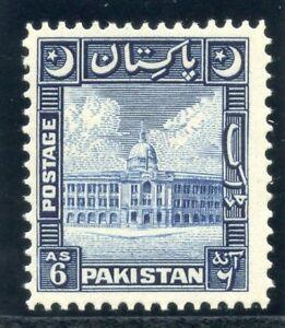 Pakistan 1949 KGVI 6a blue superb MNH. SG 48. Sc 51.