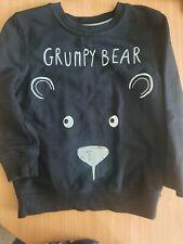 George Grumpy Bear Black Jumper Age 4-5 Years