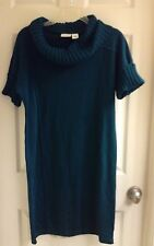 Kim Rogers, women's size small,  sweater dress, cowl neck,  green NWT $100