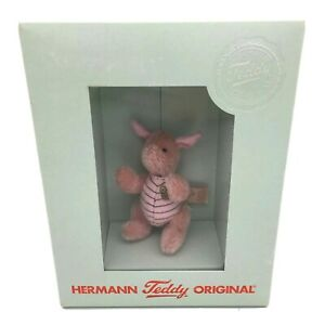 Rare Hermann Teddy Limited Edition PIGLET Winnie The Pooh Miniature in Box