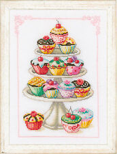 Vervaco counted cross stitch kit: cupcake personne?