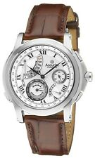Accurist Grand Master's Repeater Watch Silver Dial Brown Strap GMT325