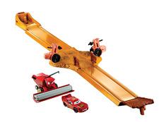 Disney Pixar Cars Tractor Tippin' Track Set Frank the Combine Lightning McQueen