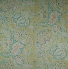 Osborne & Little Linen Floral Fruit Palms Rust Teal Gold New 2 yard+