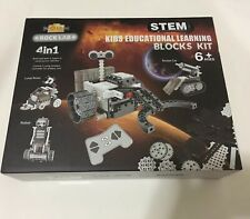 STEM Space Exploration Educational Learning Blocks 4-in-1 Robot Rocket Car Rover