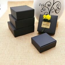 100x Black Paper Favour Box Wedding Birthday Party Baby Shower Favor 9.5x9.5x3cm