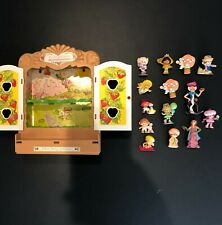 Lot of 14 - Vintage Strawberry Shortcake PVC Figures with Display Case
