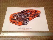 2010 2011 2012 2013 Chevy Camaro LS3 SS David Kimble illustration print ZL12010