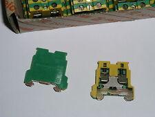 10 x Weidmüller Klemme  AKE 2.5  ( Erdungsklemme )  grün/gelb