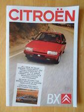 CITROEN BX RANGE 1987 UK Mkt Prestige Sales Brochure - With 19 GTI & 16v