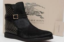 BURBERRY PRORSUME SKDALE  CALF HAIR STUDDED BLACK BOOTS SHOES 39/9 $932