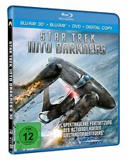 3D Blu-ray * Star Trek - Into Darkness -  3D + 2D + DVD - Chris Pine # NEU OVP +