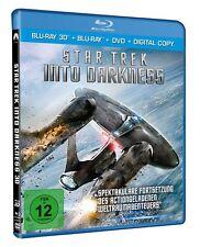 3D Blu-ray * Star Trek - Into Darkness -  3D + 2D + DVD - Chris Pine # NEU OVP +