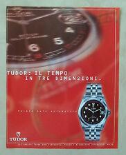 C342-Advertising Pubblicità-1998- OROLOGI TUDOR PRINCE DATE AUTOMATICO