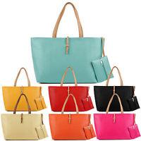 2pcs/set Womens Sling Handbag Shoulder Tote Purse Satchel Messenger Bag Gift UK