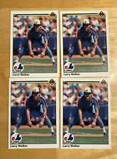 1990 UPPER DECK BASEBALL LARRY WALKER ROOKIE CARD LOT 4X MONTREAL EXPOS MINT
