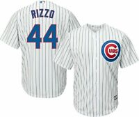 Majestic Chicago Cubs Anthony Rizzo 44 Baseball Jersey Mens Adult XL Pinstripe