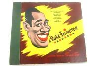 Lot of 3 Vintage 78 RPM Records In A Duke Ellington Panorama Storage Booklet