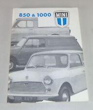Instrucciones Servicio/Owner ´S Manual Austin / Morris Mini 850/1000 Stand 1974
