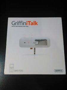Griffin iTalk Voice Recorder For iPod PN 4020- Talk Pre-Owned In Original Box