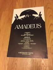 Original AMADEUS Window Card Broadway Poster from Alice Faye's Estate 14x22