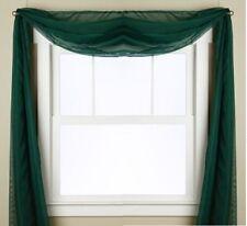 "1 SCARF VALANCE SHEER FABRIC ELEGANT WINDOW CURTAIN DRAPE 35""X216"" HUNTER GREEN"