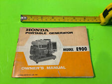 1971 Honda Model E900 Portable Generator Owner Manual More In Our Store S