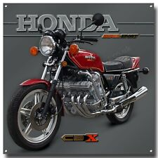 """HONDA SUPER SPORT CBX 1000Z 1979 CANDY GLORY RED MOTORCYCLE METAL SIGN 12"""" X 12"""""""
