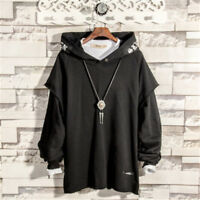 Japanese Fashion Hip Hop Pullover Hoodie Sweatshirt Sreet Style Hooded Coat New
