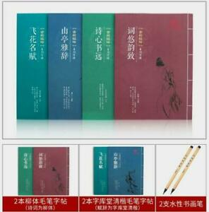 Chinese Regular script calligraphy Copybook for beginner 毛笔字帖成人小楷名赋集词入门书法宣纸