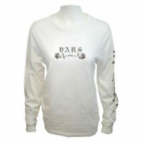 Vans Off The Wall Women's White Rose L/S Tee (Retail $30)