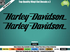 HARLEY DAVIDSON DECAL - VINTAGE, CHOPPER, MAN CAVE - BLACK or COLOURS x 2