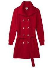 Pure Collection Italian Knit Trench Coat Red Ladies Size 16 RRP £299 Box4599 B