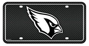 Arizona Cardinals Metal Tag License Plate Carbon Fiber Design Premium Football