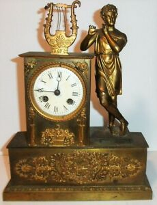 FRENCH EMPIRE PERIOD FIGURAL CLOCK WITH CASE PARTS