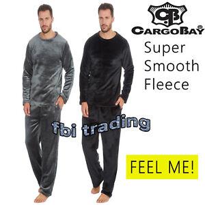 Mens Pyjamas New Shimmer Fleece Lounge Wear Winter Warm