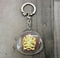 AUTHENTIC VINTAGE THE QUEENS SILVER JUBILEE 1952 - 1977 KEY RING MINT ULTRA RARE