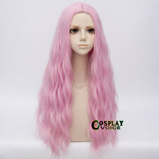 Lolita Pink 78cm Long Curly Party Show Heat Resistant Anime Cosplay Party Wig