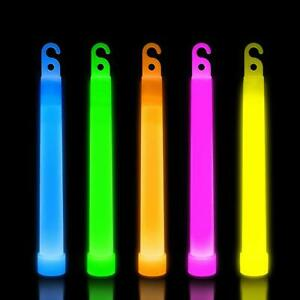 10 Premium Glow Sticks Individually Wrapped 6 inch Long Party Neon Safety Light
