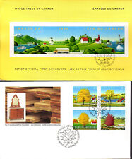 Canada - Maple Trees - 1524 3 U/A Fdcs With Folder - Canada Post Cachet - 1994