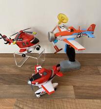 Disney Store Pixar Planes Toy Bundle Dusty Spinning Light Sensory & Piston Peak