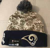 Authentic NEW Los Angeles Rams New Era Salute To Service Winter Beanie Knit Hat