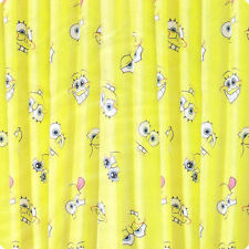 Spongebob Squarepants Smiles Yellow 66x54 Childrens Bedroom Ready Made Curtains
