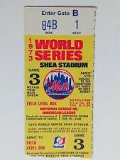 Mets - Oakland A's 1973 World Series Shea Stadium Ticket Stub