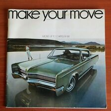 1968 Chrysler Brochure Advertisement- New Yorker, Town & Country, 300, Newport