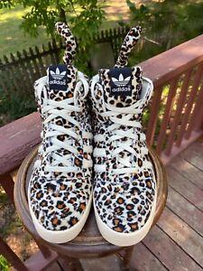 US Size 10.5  Adidas Jeremy Scott JS Leopard Tails AUTHENTIC V24536