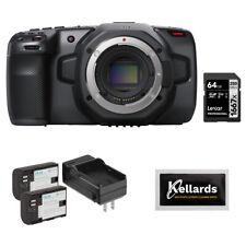 Blackmagic Design Pocket Cinema Camera 6K w/ 64Gb Memory Card, Battery & Wipes