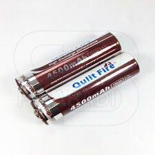 2 x LITHIUM ION PILE 3,7 V 4500 mAh Type 18650 Li - ion 65 x 18 mm BATTERIE ACCU