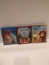 The Lion King , Lion King 1 1/2 New & Lion King 2 New ~ Disney Blu-Ray+DVD ~